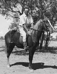 Reg Brown (27) rides one of his favourite fillies on the station